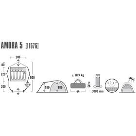 High Peak Amora 5 tent olijf